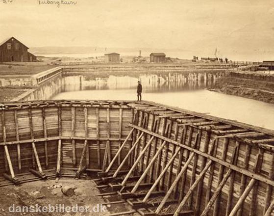 FET_Tuborg-Havn-anlægges-i-1870.-Foto-Lokalhistorisk-arkiv.