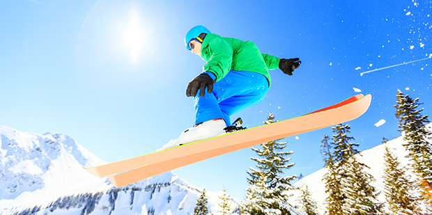 Vild  med ski