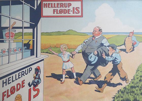 FET_Liebhaverboligen_Hellerup_HellerupIs_Historie_Is plakat