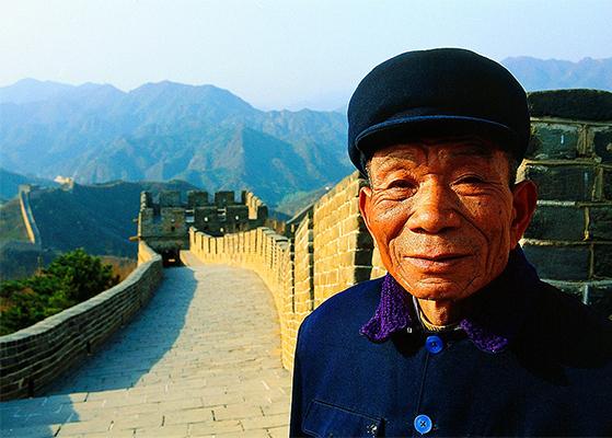 FET_Rejsereportage_Kina_TMand ved kinesiske mur