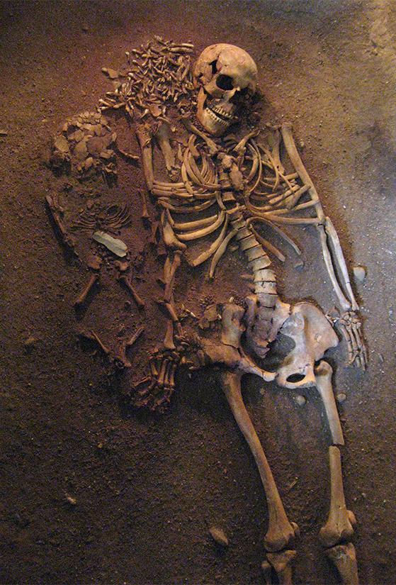 FET_Vedbækfundne_kvinde med barn skelet hel-2