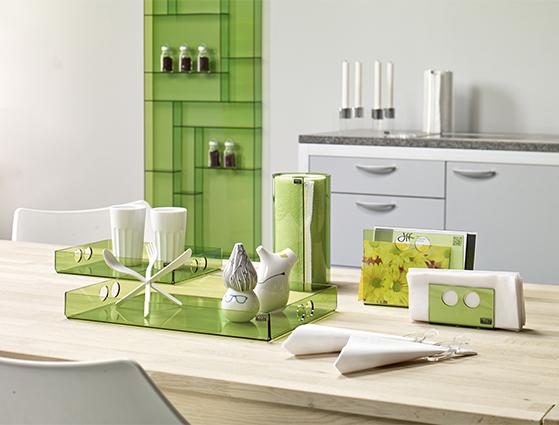 FET_Akryl_Møbler_Boligdesign_Køkken i grønt