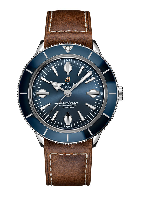 FET_Dykkerure_4-06_superocean-heritage-57-with-a-blue-dial-and-a-brown-vintage-inspired-leather-strap_ref-a10370161c1x1